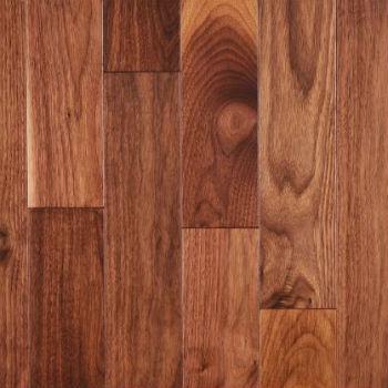 Plancher de bois massif en noyer